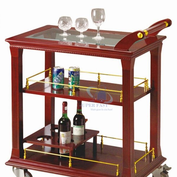 Xe đẩy rượu 3 tầng R-72