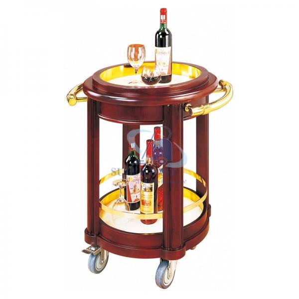Xe đẩy rượu 2 tầng hình tròn R-51