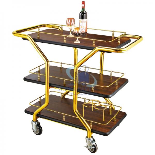 Xe phục vụ rượu 3 tầng R-2
