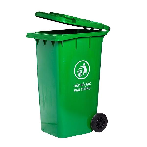 Thùng rác công cộng nắp đậy 240 lít