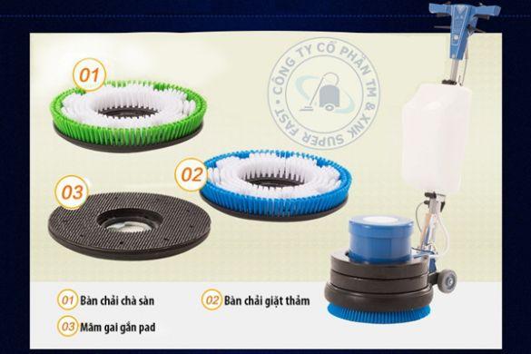Review và hướng dẫn cách lắp đặt máy chà sàn đơn Life Clean LC 17