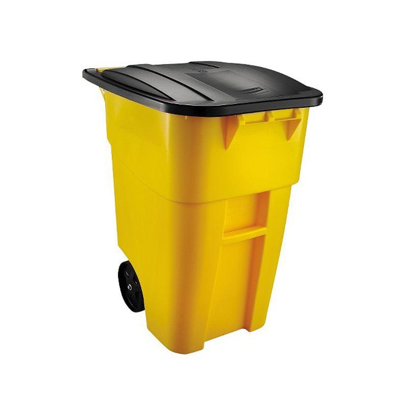 Xe rác dung tích 190L Rubbermaid FG9W2700YEL
