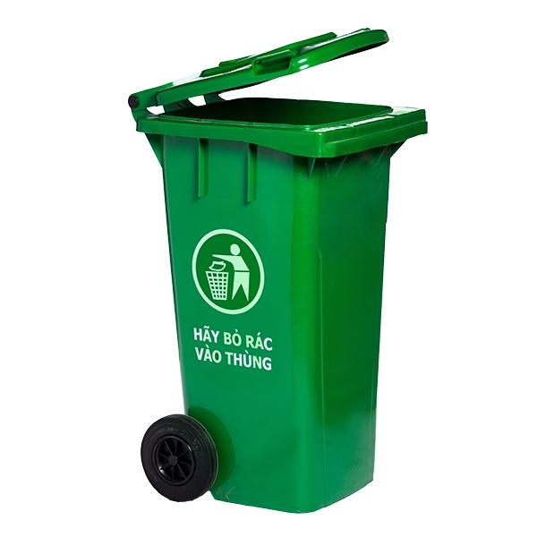 Thùng rác công cộng nắp đậy 120 lít